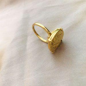 Tory Burch Vintage Queen Embossed Ring